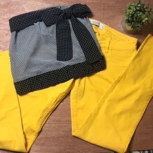 Abercrombie & Fitch Yellow Denim Jeans